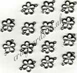 Daisy Ribbon Charms - Clear